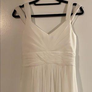 lulus White Flowy Gown